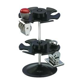 Stempelträger rund für 12Stempel 2Etagen Durchmesser 10,8cm, H 17,0cm schwarz Metall Wedo 641201 Produktbild