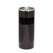 Standascher mit Abfallsammler ø 25cm Höhe 61cm schwarz Stahlblech Alco 2940-11 Produktbild