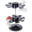 Stempelträger rund für 16Stempel 2Etagen Durchmesser 12,0cm, H 18,0cm schwarz Metall Wedo 641601 Produktbild