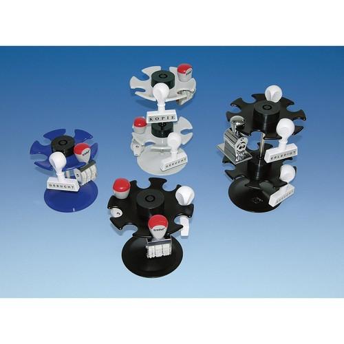 Stempelträger rund für 16Stempel 2Etagen Durchmesser 12,0cm, H 18,0cm schwarz Metall Wedo 641601 Produktbild Additional View 1 L
