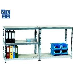 Steckregal / Werkbank mit 5 Holzböden 92x46x180cm / 184x46x90cm ALCO 410 Produktbild