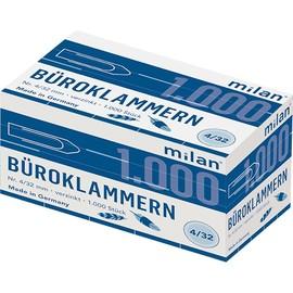 Büroklammern 32mm verzinkt eckige Form ALCO 220 (SCH=1000 STÜCK) Produktbild
