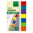 Haftmarker Pergament Mini 50x12mm 7 Farben transparent Sigel HN677 (PACK=7x 40 STÜCK) Produktbild