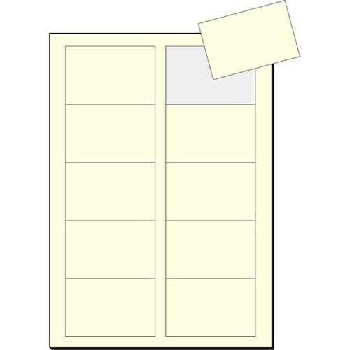 Visitenkarten Inkjet+Laser+Kopier 85x55mm 225g vanille glatte Kanten Sigel DP796 (PACK=100 STÜCK) Produktbild Additional View 1 L