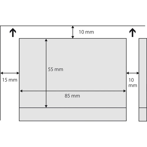 Visitenkarten Inkjet+Laser+Kopier 85x55mm 225g vanille glatte Kanten Sigel DP796 (PACK=100 STÜCK) Produktbild Additional View 3 L