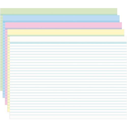 Karteikarten A8 liniert farbig sortiert holzfrei RNK 11508 (PACK=100 STÜCK) Produktbild Additional View 1 L