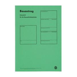 Bauantragsmappe einzeln ohne Formulare grün 1951 Produktbild