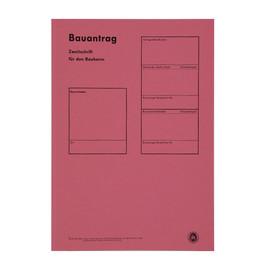 Bauantragsmappe einzeln ohne Formulare rot 1952 Produktbild