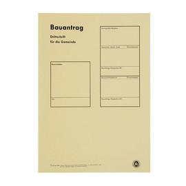 Bauantragsmappe einzeln ohne Formulare beige 1953 Produktbild