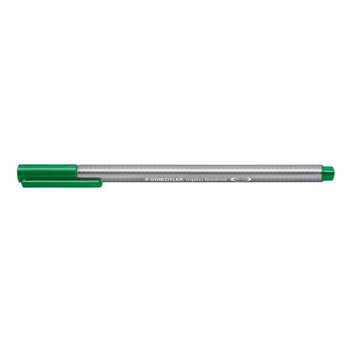 Fineliner Triplus 334 0,3mm Dreikant grün Staedtler 334-5 Produktbild