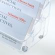 Visitenkarten-Aufsteller mit 8Fächern 94x85mm für 560Karten glasklar Hartplastik Sigel VA138 Produktbild Additional View 2 S