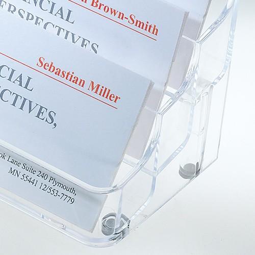 Visitenkarten-Aufsteller mit 8Fächern 94x85mm für 560Karten glasklar Hartplastik Sigel VA138 Produktbild Additional View 2 L