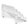 Visitenkarten-Aufsteller mit 8Fächern 94x85mm für 560Karten glasklar Hartplastik Sigel VA138 Produktbild Additional View 1 S