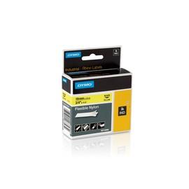 Schriftband IND Rhino 19mm/3,5m schwarz auf gelb Nylon Dymo 18491 (ST=3,5 METER) Produktbild