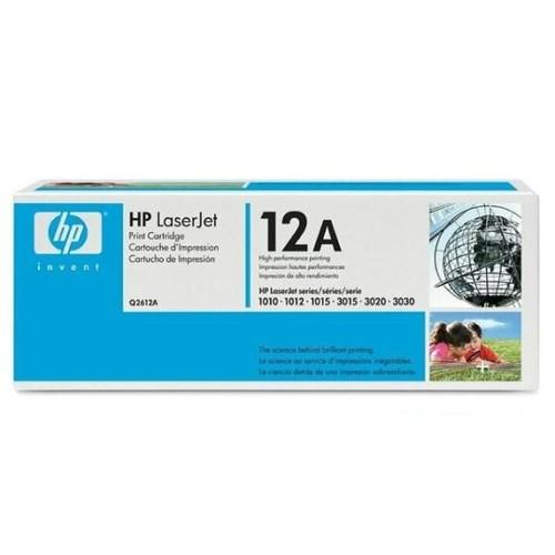 Toner 12A für LaserJet 1010/1012/1015/1018 2000Seiten schwarz HP Q2612A Produktbild Front View L