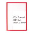 Infotasche A4 transparent/rot magnetisch Ultradex 8892-05 Produktbild
