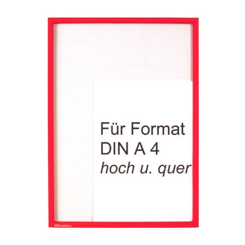 Infotasche A4 transparent/rot magnetisch Ultradex 8892-05 Produktbild Front View L