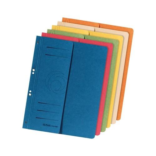 Ösenhefter 1/2 Vorderdeckel kaufmännische Heftung 238x305mm blau Karton Herlitz 10836997 Produktbild Additional View 1 L
