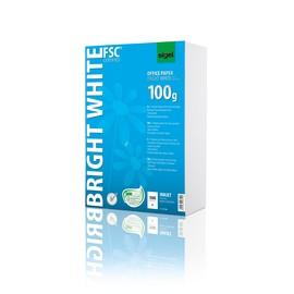 Papier Inkjet Bright White A4 100g weiß beidseitig bedruckbar Sigel IP150 (PACK=500 BLATT) Produktbild