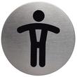 Piktogramm mit Aufschrift WC HERREN 83mm ø silber Durable 4905-23 Produktbild