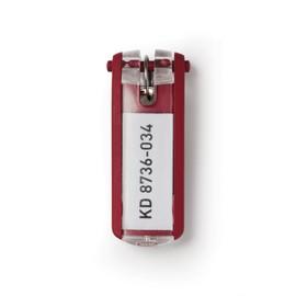 Schlüsselanhänger Key Clip mit auswechselbarem Schild rot Kunststoff Durable 1957-03 (BTL=6 STÜCK) Produktbild