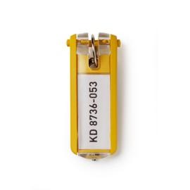 Schlüsselanhänger Key Clip mit auswechselbarem Schild gelb Kunststoff Durable 1957-04 (BTL=6 STÜCK) Produktbild