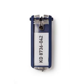 Schlüsselanhänger Key Clip mit auswechselbarem Schild dunkelblau Kunststoff Durable 1957-07 (BTL=6 STÜCK) Produktbild