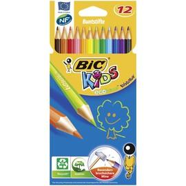 Farbstifte Kids evolutions sechskant Kartonetui sortiert BIC 907832 (PACK=12 STÜCK) Produktbild