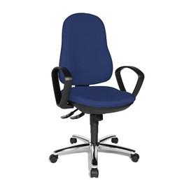 Drehstuhl Syncro Steel mit Armlehnen blau Topstar 8929G26 Produktbild