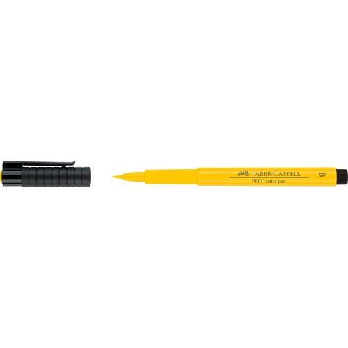 Tuschestift PITT ARTIST PEN 1,0mm breit kadmiumgelb Faber Castell 167407 Produktbild Front View L