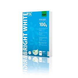 Papier Inkjet Bright White A4 100g weiß beidseitig bedruckbar Sigel IP125 (PACK=250 BLATT) Produktbild