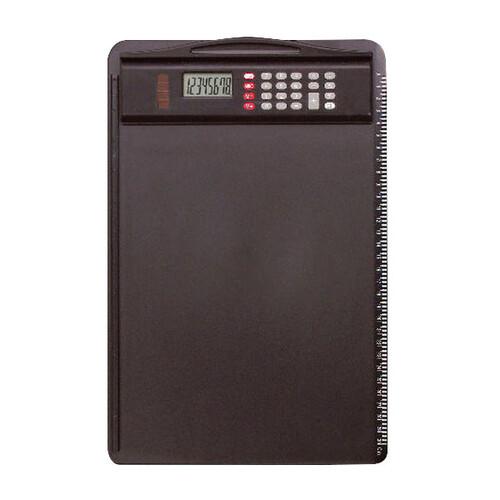 Klemmbrett mit abnehmbarem Rechner A4 schwarz Alassio 0085 Produktbild Front View L