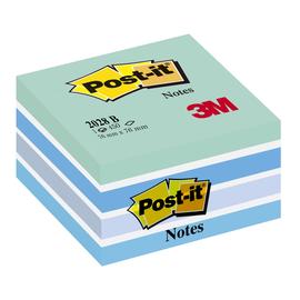 Haftnotizen Post-it Notes Würfel 76x76mm pastellblau Papier 3M 2028B (ST=450 BLATT) Produktbild
