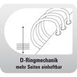 Organizer Standard Compact Midi für 96x172mm schwarz Chronoplan 50174 Produktbild Additional View 3 S