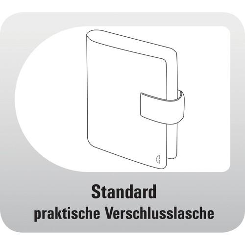 Organizer Standard Compact Midi für 96x172mm schwarz Chronoplan 50174 Produktbild Additional View 4 L