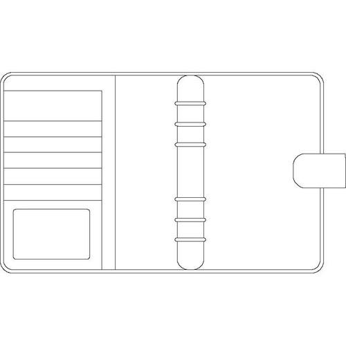 Organizer Standard Compact Midi für 96x172mm schwarz Chronoplan 50174 Produktbild Additional View 1 L