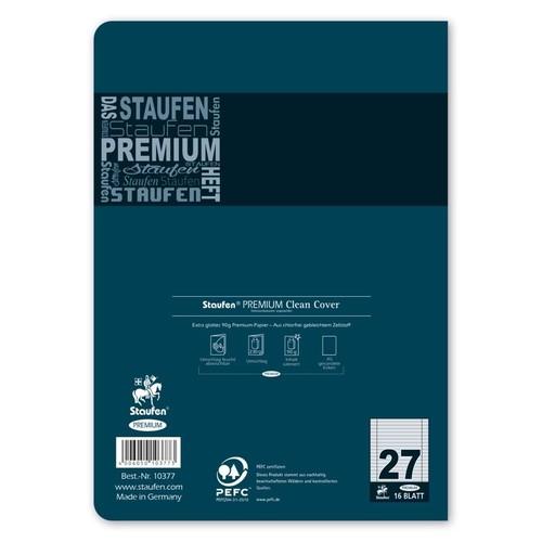 Heft Premium A5 Lineatur 27 Rand links+rechts 16Blatt 90g weiß Staufen 734010377 Produktbild Additional View 2 L