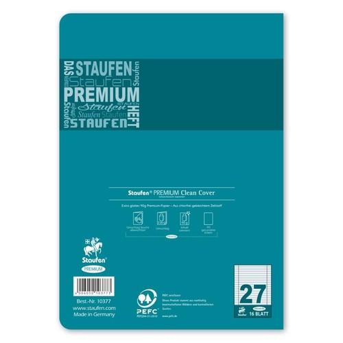 Heft Premium A5 Lineatur 27 Rand links+rechts 16Blatt 90g weiß Staufen 734010377 Produktbild Additional View 3 L