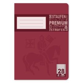 Heft Premium A5 Lineatur 28 kariert Rand links+rechts 16Blatt 90g weiß Staufen 734010378 Produktbild