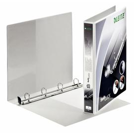 Präsentationsringbuch SoftClick mit 4 Sichttaschen A4 Überbreite 4Ringe Ringe-Ø20mm weiß PP Leitz 4200-00-01 Produktbild