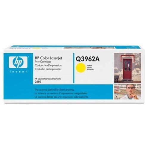 Toner 122A für Color LaserJet 2550/2800/2820/2840 4000Seiten yellow HP Q3962A Produktbild Front View L