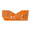 Axokombi-Schablone DIN 5 für 0,7mm Stifte Standardgraph 1186 Produktbild