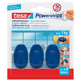 Powerstrips Haken Small Oval bis 750g Haftkraft blau Tesa 57546-00015-01 (PACK=3 STÜCK) Produktbild