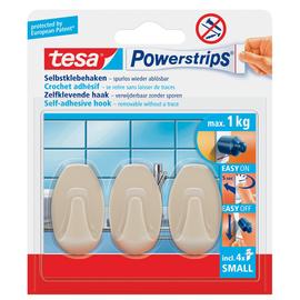 Powerstrips Haken Small Oval bis 750g Haftkraft beige Tesa 57546-00014-01 (PACK=3 STÜCK) Produktbild