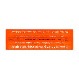 Schriftschablone Duoscript Isonorm für 3,5/5,0mm Stifte Standardgraph 2523 Produktbild