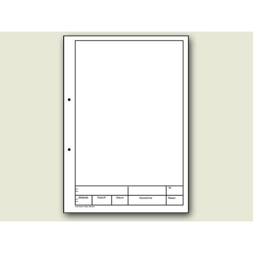 Zeichenblock Original Kieser A4 Lin.12 25Blatt weiß 10-42237 Produktbild Front View L