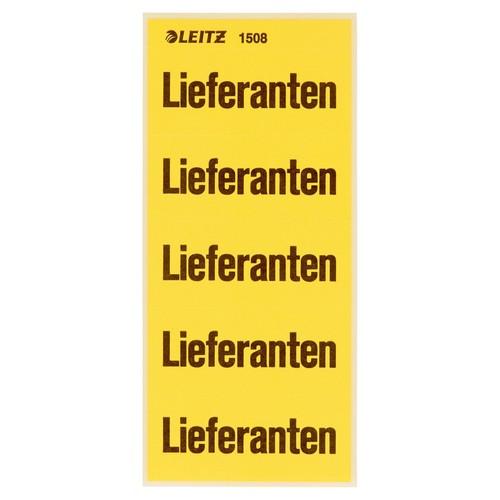 Inhaltsschilder Lieferanten gelb Leitz 1508-00-00 (BTL=100 STÜCK) Produktbild Front View L