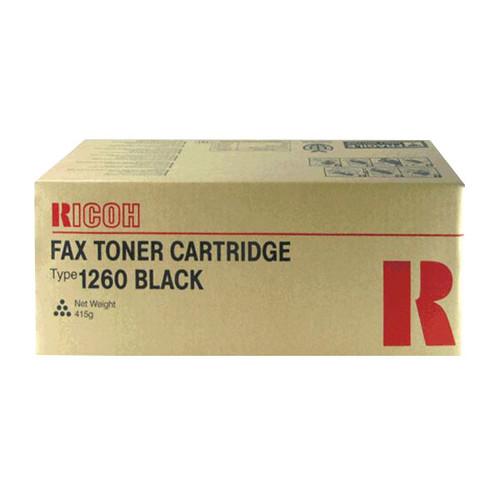 Toner Typ 1260D für Fax 3310/3320L/4410/4420/4430 5000Seiten schwarz Ricoh 412895 Produktbild Front View L