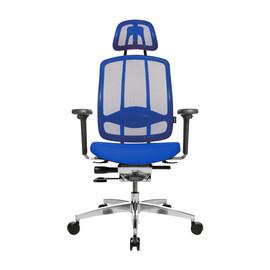Drehstuhl Alu Medic 10 mit Armlehnen und Kopfstütze mit Dondola dunkelblau Topstar Z59BDTT8XH Produktbild