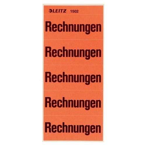 Inhaltsschilder Rechnungen rot Leitz 1502-00-00 (BTL=100 STÜCK) Produktbild Front View L